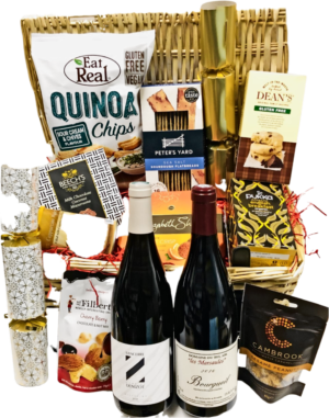 Hamper, Fine White and Red wine With Artisan Delicious Goodies